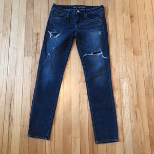 American Eagle Outfitters distressed jeans.